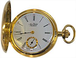 Aero Watch taskukello (18k) kultaa, käsin kaiverrettu